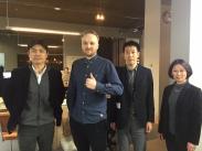 NHK BS国際報道の取材にて ルーバッハ氏をインタビュー NHK interview with Arjen Lubach