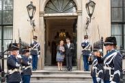 オランダと日本の防衛大臣の会談にて At a meeting between the Dutch Minister of Defense and the Japanese Minister of Defense